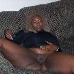 Fat Brown Woman Showing Ebony Pussy