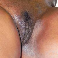 Oily African Vulva