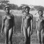 Old Photo of African Native Girls Naked