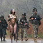 Soldiers Caught Naked Niggress