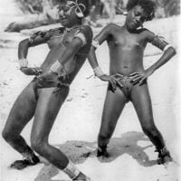 Vintage Photo of Ethnic African Nudist Girls