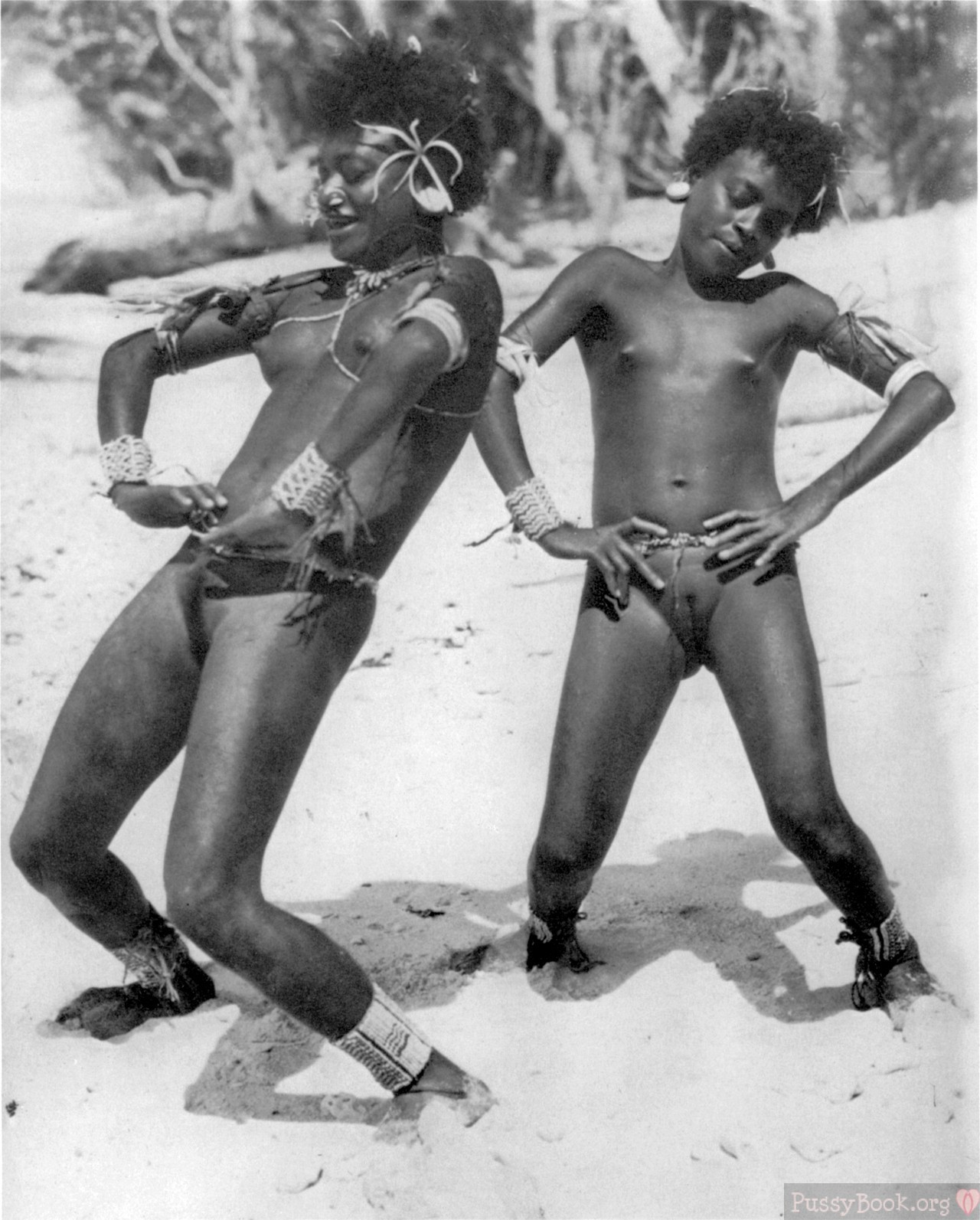 Vintage Photo Of Ethnic African Nudist Girls  Pussy -6301