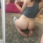 German Teen Girl Cute Lil' Naked Butt Selfie