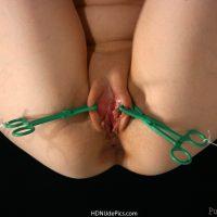 Masochistic-Vagina-Pulling-Labia-with-Scissors-HD