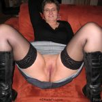 Mother Spreading Her Legs Without Panties