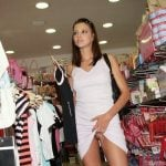 Pussy Upskirt Flashing in Clothes Store