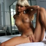 Hotel Room Blonde Babe Naked Slim Body