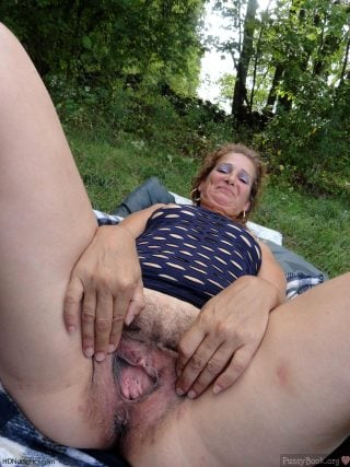 Mid-Age-Woman-Spreading-Vagina-in-the-Nature-HD