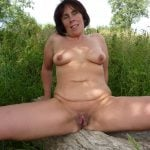 Naked Mature Naturist Female Outdoors