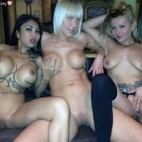 3 Nasty Chicks Posing Naked