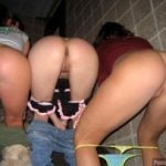 3 Girls Nude Butts in Public taking off panties