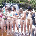 7 Girls 5 Pussies at Waterfall