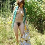 '70 Hippie Hairy Pussy Gal in Nature