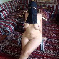 Arabian Burka Bitch Nude at Home