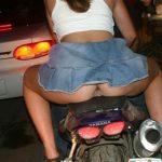 Ass Crack on motorcyble