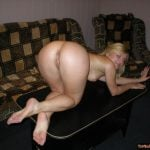Canadian Girl Birtday Suit Ass on table
