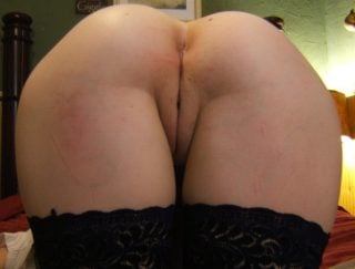 Close-up Bare Booty Bent Over