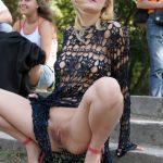 Crazy Girl Flashing Her Cunt in Public