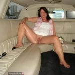 Freshly Married Woman Showing Pussy in the Limo