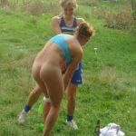 Girls Playing Bare Butt