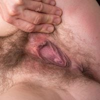 Hairy Older Tight Vagina Spreading Up-Close