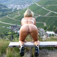 Hot Granny Naked Ass on all fours Awesome Landscape Outdoors