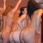 Many Girls Showing Bare Asses