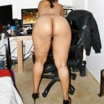 Naked Mulatto Wife Bends Over