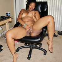 Nasty Afro American Woman Touching Pussy & Tits
