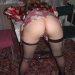 Nasty Wife Panties Down Bent Over