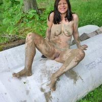 Nude Woman Full of Mud
