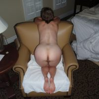 Private Woman Ass Bending Over Armchair