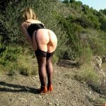 Sexy Wife Bending Over in the wild
