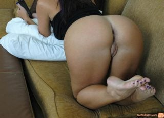 South American Booty on couch