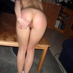 Spanked Girl Bending Over