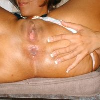 Spreading Buttocks Crack Wide Latina