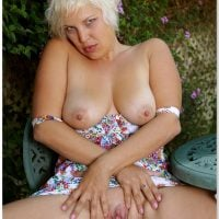 Topless Blonde Mistress Hot Pussy Spreading