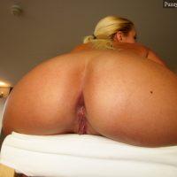 Very Big Blonde Booty Sitting