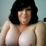 Wife Shows Big White Fluffy Tits