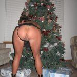 Wife Shows Bare Ass Christmas Tree