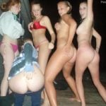 A Bunch of Naked Teen Chicks Butts