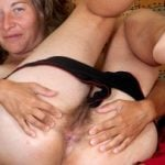 Aged Mother Spreading Hairy Cunt and Anus