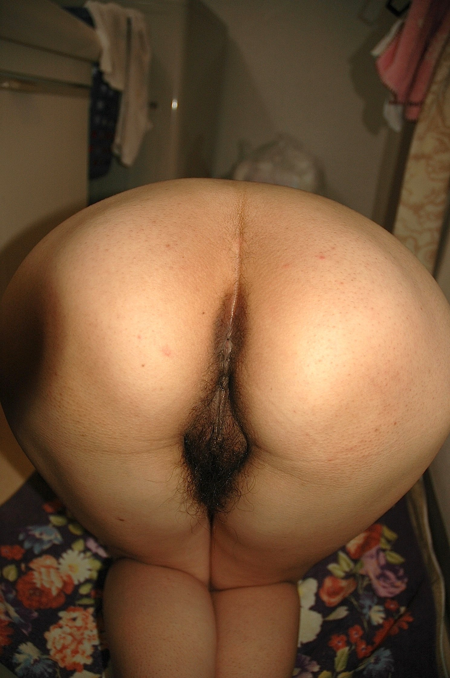 hot hairy pussy bent over