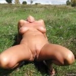 Australian Woman Outdoor Moaning