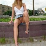 Awesome Blonde Girl Urban Upskirt