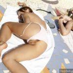 Babes Sleeping Flashing Pussy