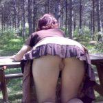 Bent Over Upskirt wife at Camp