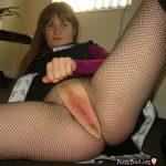 British Babe Crotchless Stockings Twat