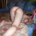 British Teen Girl Showing Ass