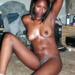 Chocolate Nude Girl at Home